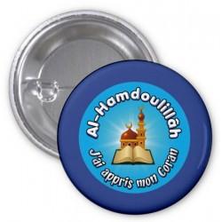 "Badge ""Al-Hamdoulillâh: I learned my Koran"" (Blue)"