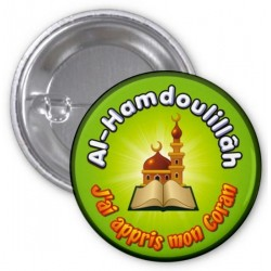 "Badge ""Al-Hamdoulillâh: I learned my Koran"" (Light green)"