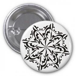"Arabic artistic calligraphy badge ""Al-Hamdulillâh"" - الحمد لله"