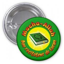 """Badge """"Masha-Allah: Good reciter of the Koran"""" (Green)"""