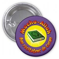 """Badge """"Masha-Allah: Good reciter of the Koran"""" (Purple)"""