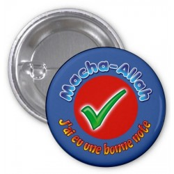 "Badge ""Masha-Allah: I had a good grade"" (Blue)"