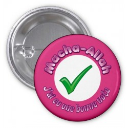 "Badge ""Masha-Allah: I got a good grade"" (Rose)"