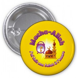Macha-Allah badge: I did my salat on time (Yellow)
