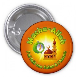 Macha-Allah badge: I did my salat on time (Orange)
