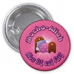 Masha-Allah badge: My bed is made (Pink)