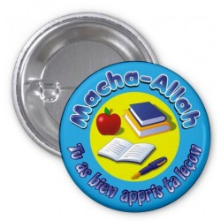 Masha-Allah badge: You learned your lesson well (Blue)
