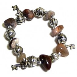 Moroccan craft bracelet with multi-colored stones