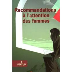 Recommandations à l'attention des femmes