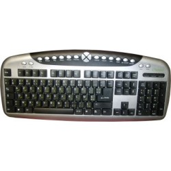 Bilingual multimedia keyboard pack (Arabic / French AZERTY - USB) + Matching USB...