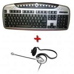 Multimedia & Internet pack: Arabic keyboard + Microphone headset