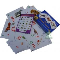 Pack poster + boite de cartes Mon alphabet français
