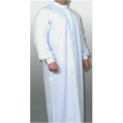 White unembroidered Qamis (Size 60 XL)