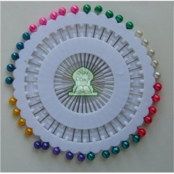 Rosette of 40 multicolored pins