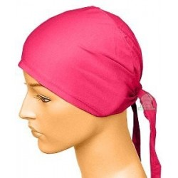 Fuschia pink cotton beanie