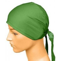 Dark green cotton beanie