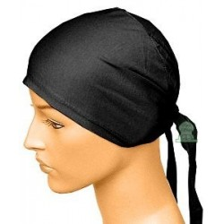 Plain black cotton beanie for women