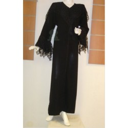 Black abaya for parties (Size S)