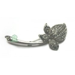 Silver flower brooch for Hijab