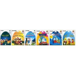 Pack 6 cartoons in literary Arabic language (VCD / DVD)