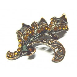 "Copper ""Arum"" brooch for Hijab"