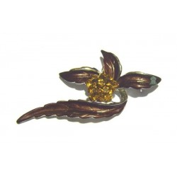 """Copper """"flower"""" brooch for Hijab"""