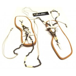 Sandals between the fingers adorned with jewels (size 37)