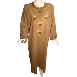 Leyla dress tanned brown color (Size L)