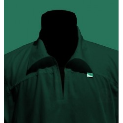 qamis black long sleeves with collar (qamis fashion - Size XL)