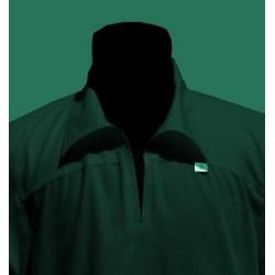 Qamis black long sleeves with collar (Qamis fashion - Size XXL)