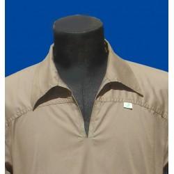 qamis gray long sleeves with collar (Qamis fashion - Size XXL)