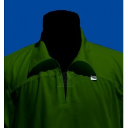 qamis khaki green long sleeves with collar (qamis 75% polyester 25% cotton - Size M)