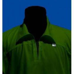 qamis khaki green long sleeves with collar (qamis 100% cotton - Size XL)