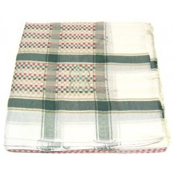 Ghutra (large square Saudi scarf) white with multicolored patterns