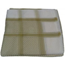 Ghutra (large square Saudi scarf) in khaki green color
