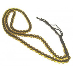 Ultra robust rosary with 99 transparent yellow beads