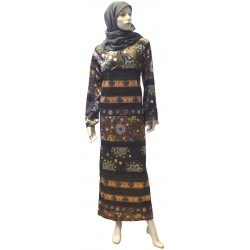 """Sihame"" velvet interior dress (Size L) + a matching hijab offered!"