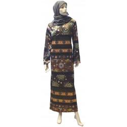 """Sihame"" velvet interior dress (Size XL) + a matching hijab offered!"