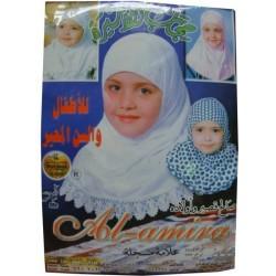 Hidjab pour petites filles couleur bleu marine - حجاب للبنات
