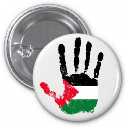 "Badge ""Palestine"" (Palestinian hand and flag)"