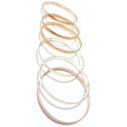 Set of 6 metal barcelets for women