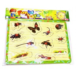 Puzzle: I discover insects (from 2 years old)