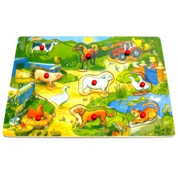 My first wooden puzzle: The farm