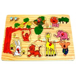 My first wooden puzzle: Animals