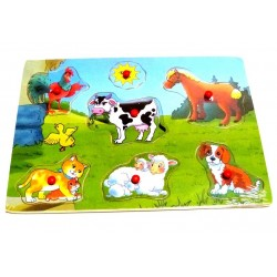 My first wooden puzzle: Farm animals