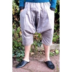 Serwal comfort trousers in cotton gabardine for men - Size S - Gray color