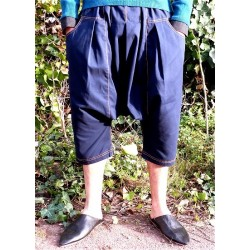 Serwal comfort trousers in cotton gabardine for men - Size S - Navy blue color