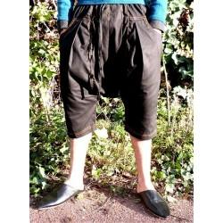 Serwal comfort trousers in cotton gabardine for men - Size M - Black color