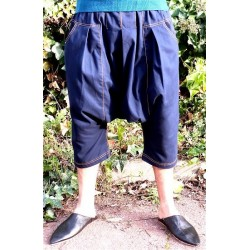 Serwal comfort trousers in cotton gabardine for men - Size L - Navy blue color