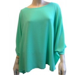 Emerald green tunic for women - Standard size